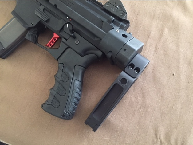 Wrexs WTF Adapter For Manitcore Arms CZ Scorpion Evo Sliding Stock By Wrexallen Thingiverse