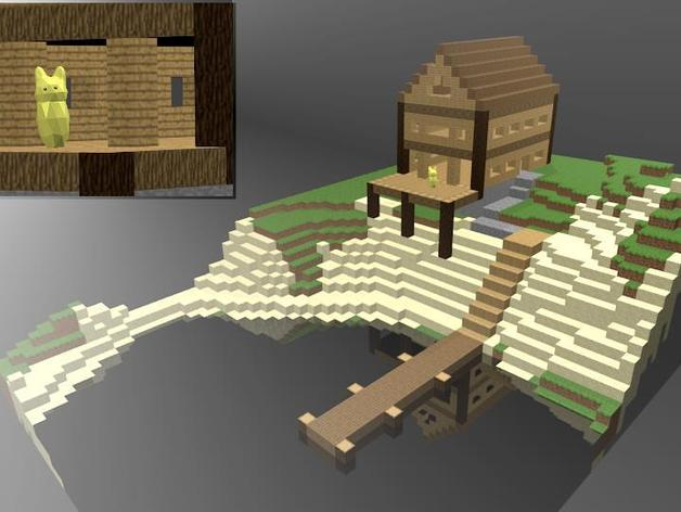 Minecraft Lake House By Sandwich Thingiverse