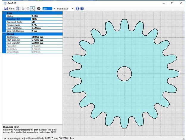 software geardxf fast rack pinion gears