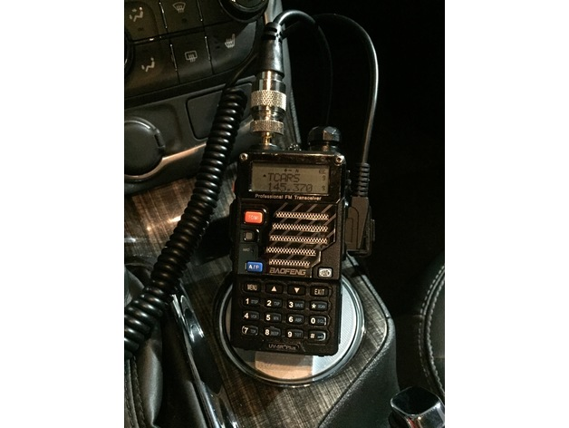 Baofeng Uv 5r Yaesu Remote Head Radio Car Cup Holder