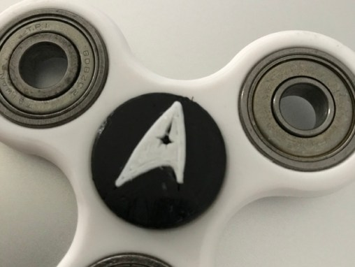 June 2017 Detail 3D printed Star Trek fidget spinner cap G & T Show