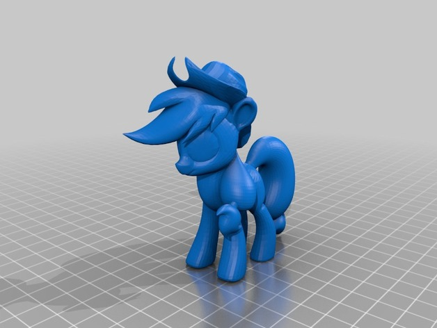 My Little Pony Applejack By Albazcythe Thingiverse