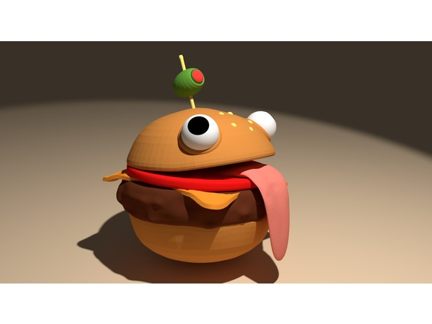 Durr Burger Fortnite By Quinventor Thingiverse