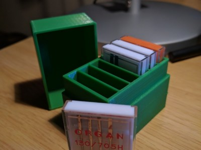 Machine needle box