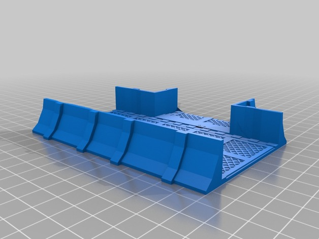 3d printed tabletop 40k modular defenseline trench newchris89