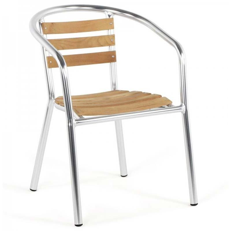 chaise de jardin aluminium bois 99 95