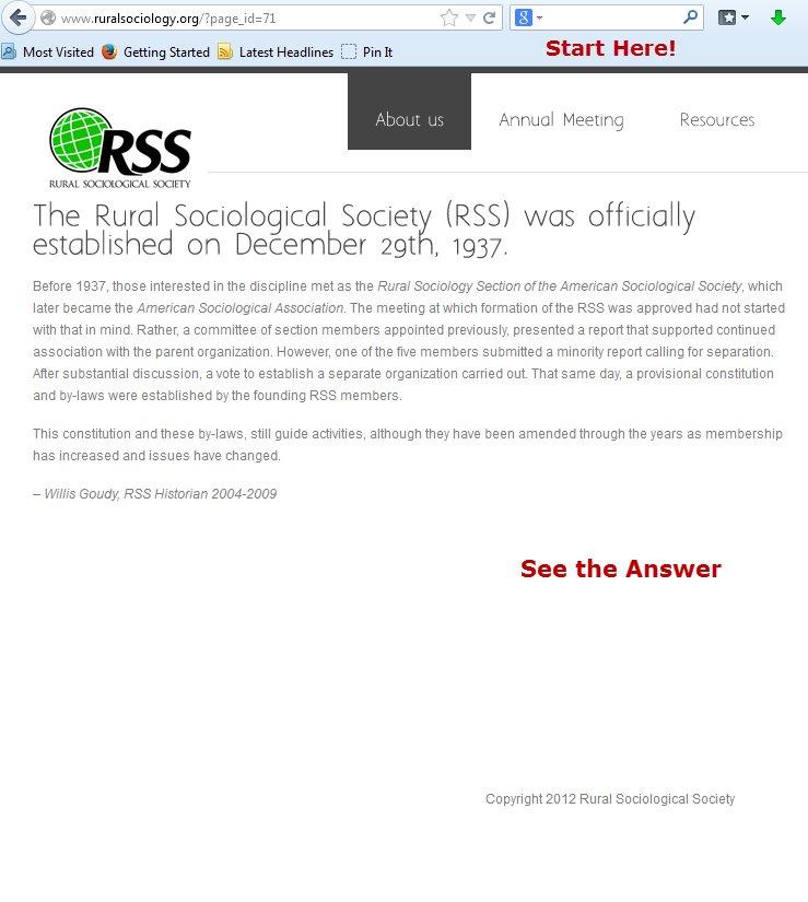 ASA Citation Tutorial: Website