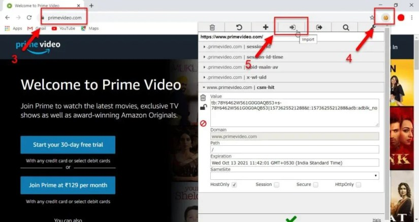 Prime video cookies for pc