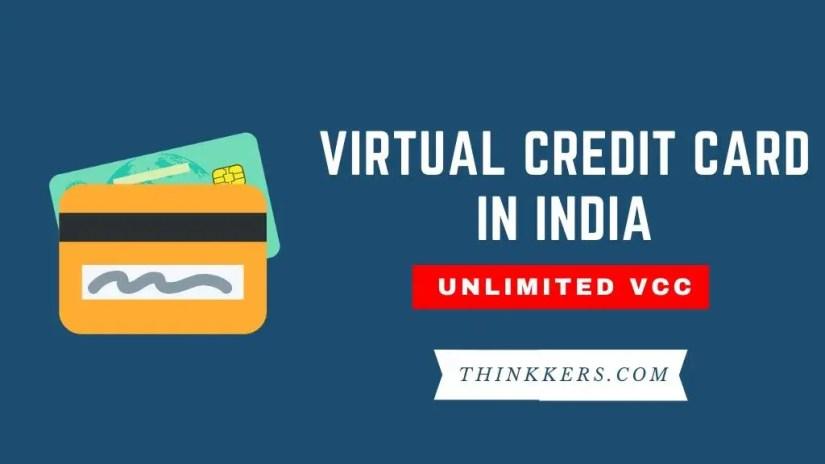 Virtual Credit Card India for netflix