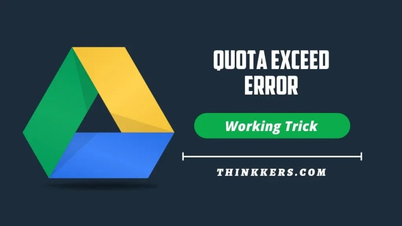 Google Drive download quota exceeded error