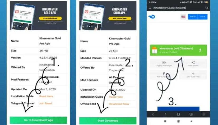 Download Kinemaster Gold Apk