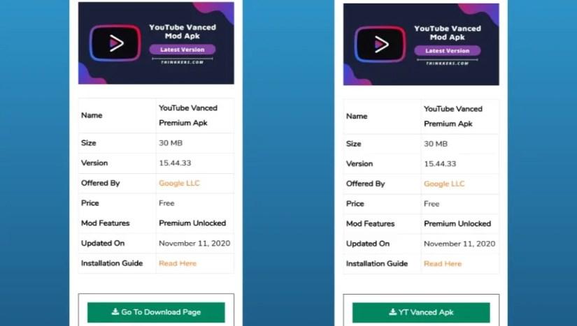 Download Youtube Vanced mod apk