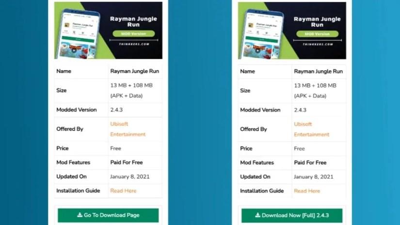 Download Rayman Jungle Run Mod Apk