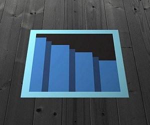 8 Bit Secret Stairway | Stairway To Darkness Rug | Area | Tardis | 3 Dimensional | Floor | Scary