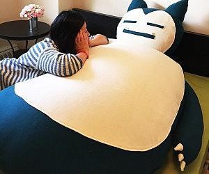 giant snorlax bean bag