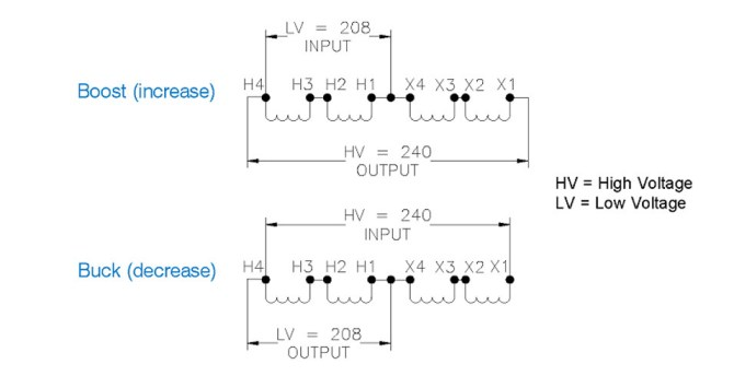 about buck boost transformers  diagram applications and