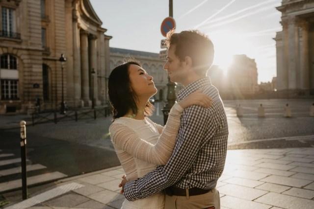 Couple photography Paris August