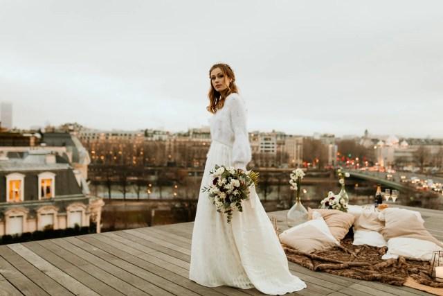 bride paris elopement maison blanche restaurant