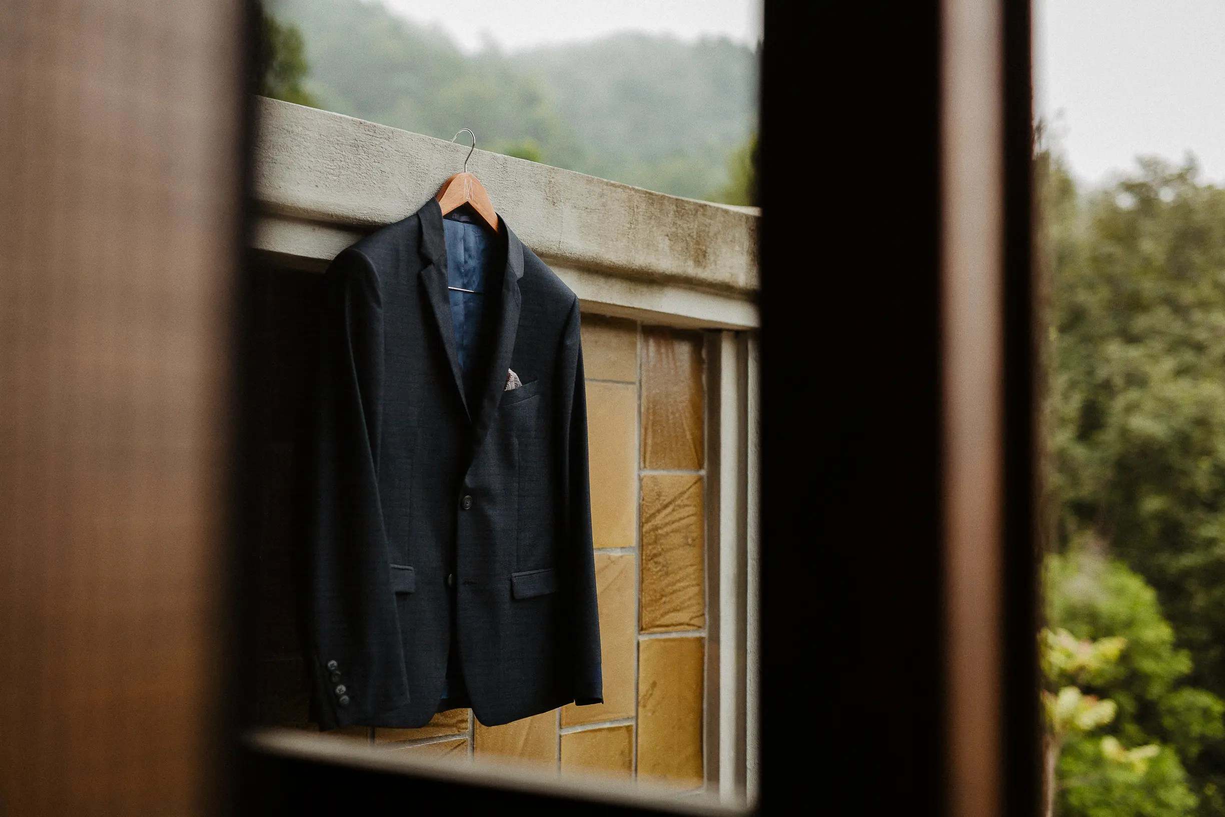 Legacy Yen Tu wedding preparation groom suit