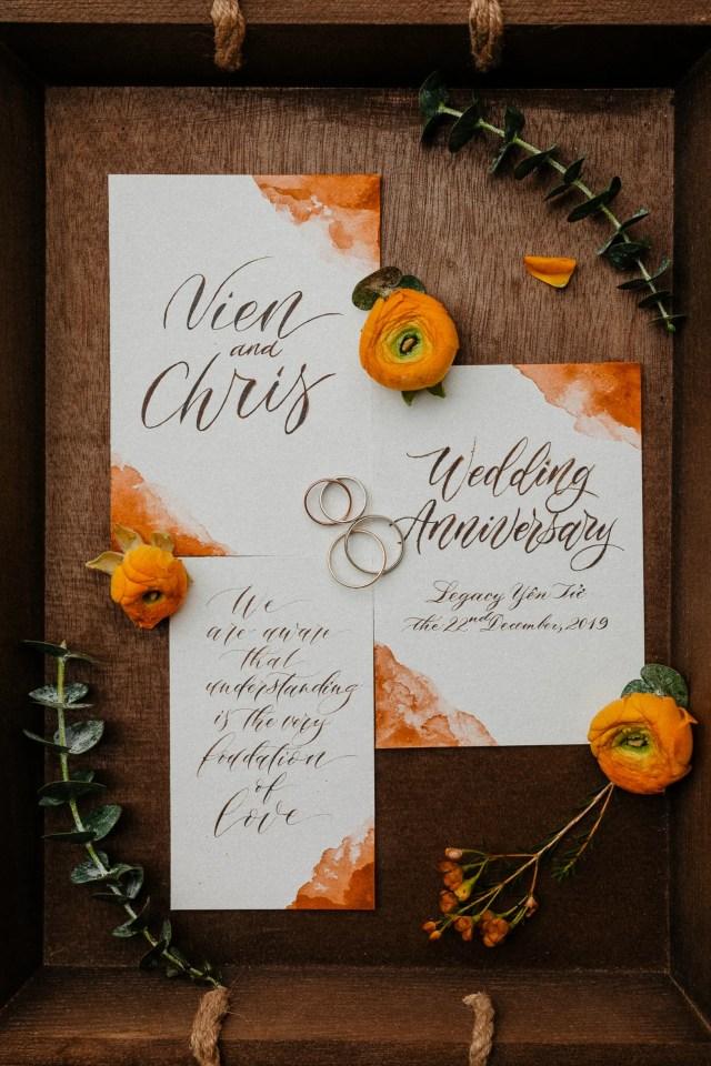 Legacy Yen Tu wedding anniversary invitation