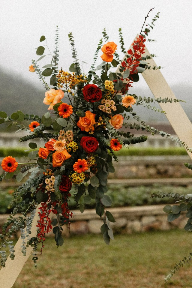 Flowers Decoration Legacy Yen Tu wedding elopement vietnam