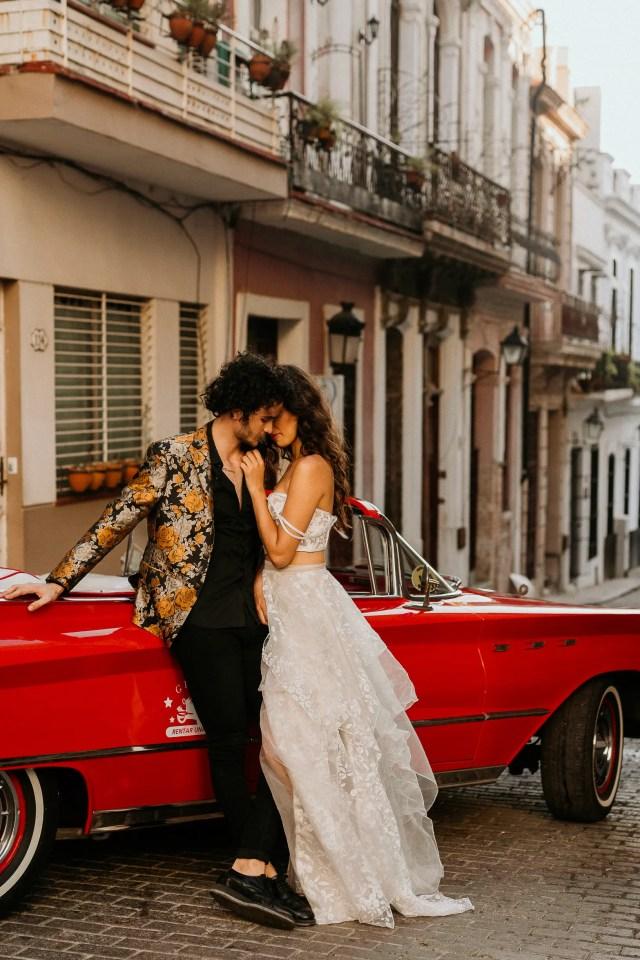 Havana Cuba wedding photographer vintage car