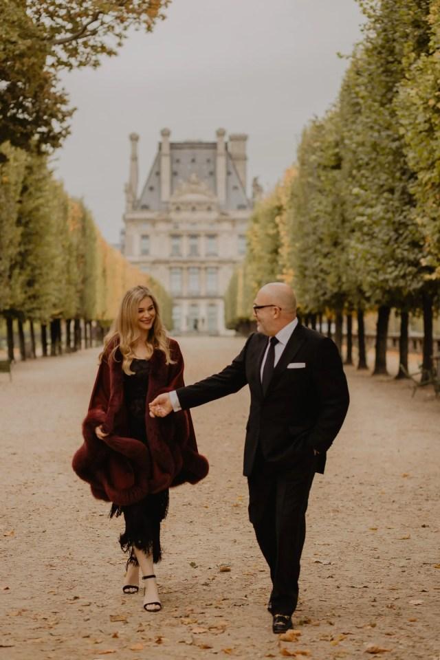 paris engagement photographer winter luxury
