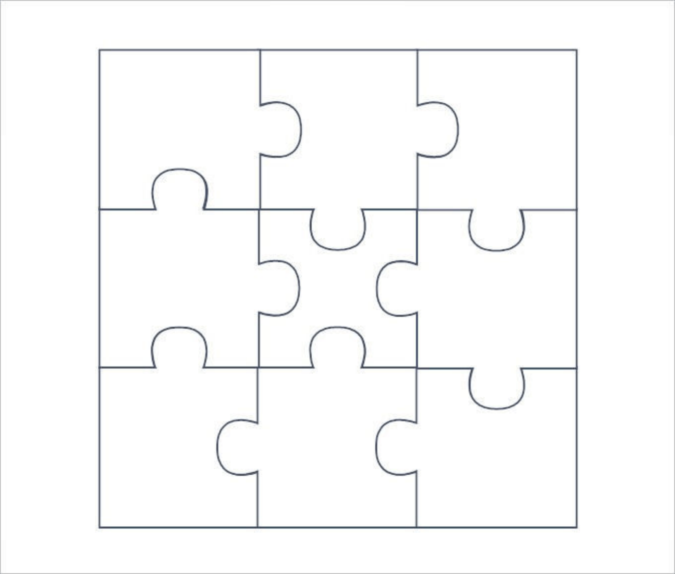 Download Blank Puzzle Pieces Template For Free