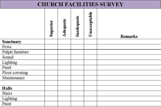 11 Church Survey Template Free Download