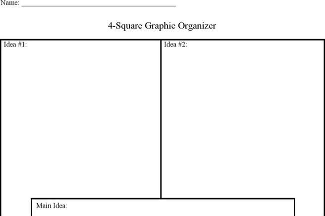 2 Four Square Writing Templates Free Download