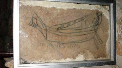 Le bâteau ou l'esquif dans la chapelle st Vartan au St Sépulcre partie arménienne (Crédit : HaAretz)