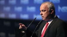 Le ministre du Renseignement Yuval Steinitz à la 7e conférence annuelle de l'INSS à Tel Aviv, le 29 janvier 2014 (Crédit : Gideon Markowicz/Flash90)