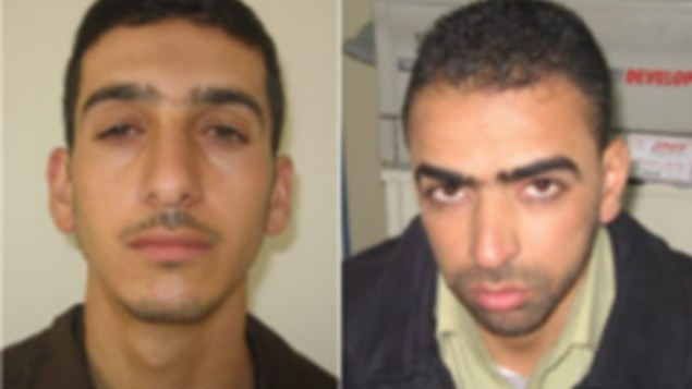 Marwan Kawasme (left) and Amer Abu Aysha (right), were behind the kidnapping and killing of the three Israeli teens in June 2014. (photo credit: Courtesy)