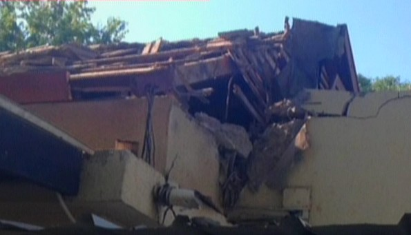 House in Shaar Hanegev destroyed by Hamas missile