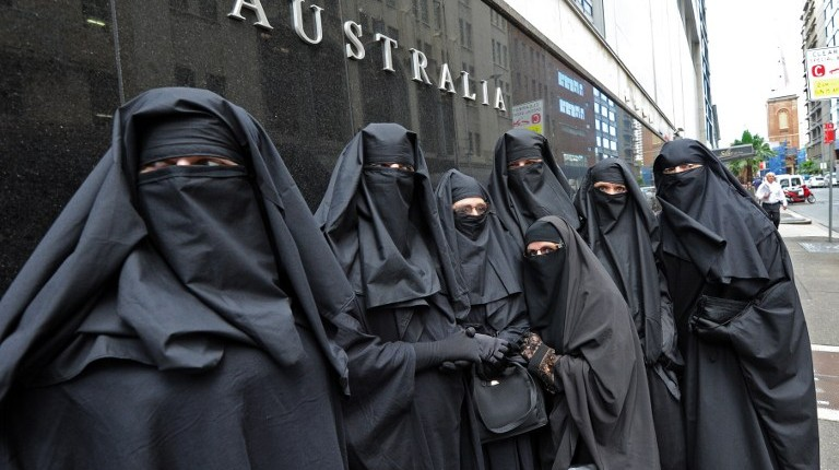 Illustrative photo of Muslim women wearing burqas (AFP/Torsten Blackwood/File)