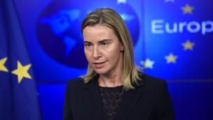 Federica Mogherini (Crédit : AFP)