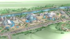 L'interprétation d'un artiste du futur parc aérospatial d'Ashdod (Crédit : Autorisation)