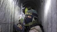 Un membre du Jihad islamique palestinien dans un tunnel, le 6 mars 2015 (Crédit : afp