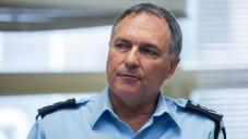 Le chef de la police israélienne, Yohanan Danino, lors d'une réunion avec la commission électorale israélienne, le 11 février 2015 (Crédit : Yonatan Sindel / FLASH90)