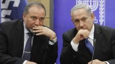Avigdor Liberman and Benjamin Netanyahu (Yonatan Sindel/Flash90)