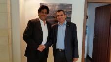 Le député Meyer Habib et Zeev Elkin, ministre de l'Intégration