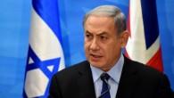 Benjamin Netanyahu en conférence de presse à son bureau de Jerusalem le 16 juillet. (Crédit : FP/ POOL / DEBBIE HILL)