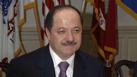 Massoud Barzani, président de la région autonome du Kurdistan irakien. (Crédit : Helene C. Stikkel/Wikimedia Commons)