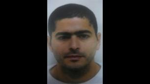 Nashat Milhem, l'homme arabe israélien qui aurait perpétré la fusillade à Tel Aviv le 1er janvier 2016 (Photo: Police israélienne)