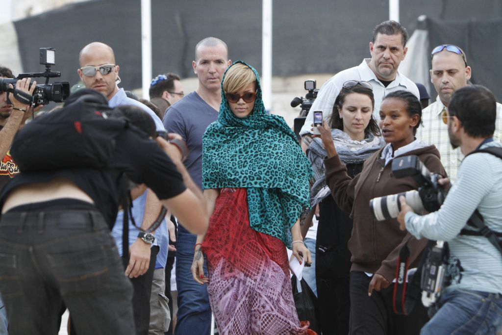 Rihanna last visited Israel in 2010, and performed at Tel Aviv's Sacher Park (Miriam Alster/Flash 90)