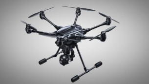 Yuneec Typhoon H drone equipped with a camera whose technology was developed in Haifa by Intel (Credit: authorization)