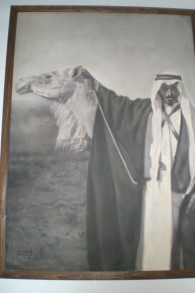 Mithqal et un chameau. Date et lieu inconnus. (Crédit : autorisation)