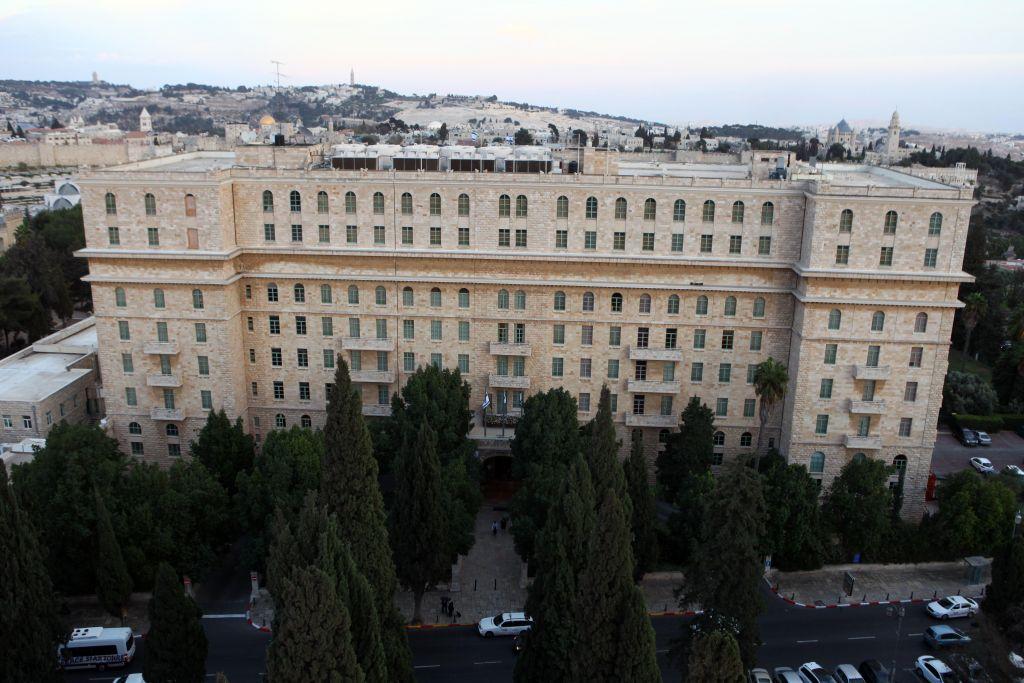 The King David hotel in downtown Jerusalem (Abir Sultan/Flash 90)