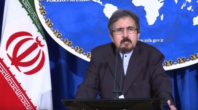 Iran's Foreign Ministry spokesman Bahram Ghasemi briefs journalists at a press conference in Tehran on August 22, 2016. (screen capture: YouTube)