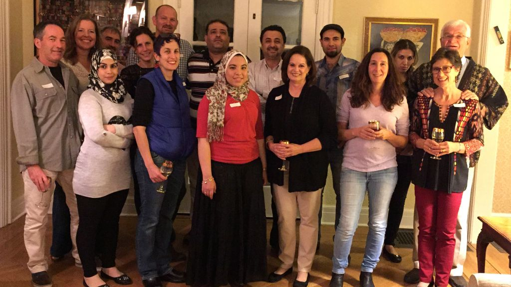 Syria Supper Club gathering in Maplewood, NJ October 2016. (Courtesy)